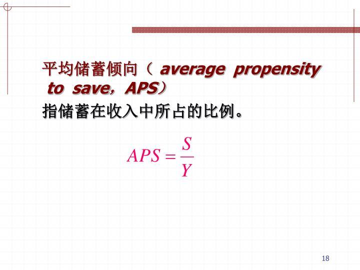 平均储蓄倾向(