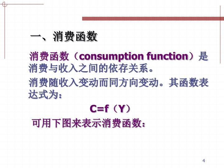 消费函数(