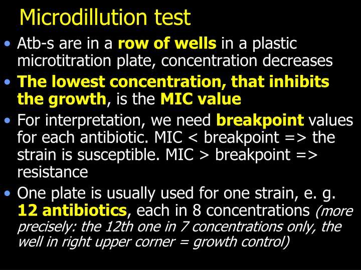 Microdillution test
