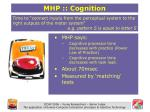 mhp cognition