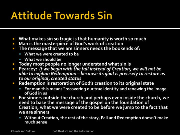 Attitude Towards Sin