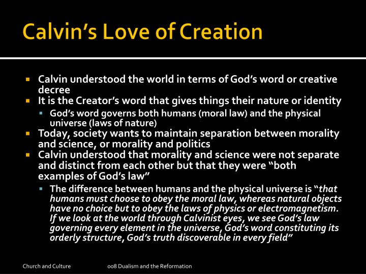 Calvin's Love of Creation
