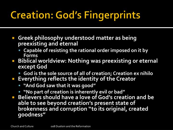 Creation: God's Fingerprints