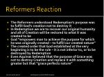 reformers reaction