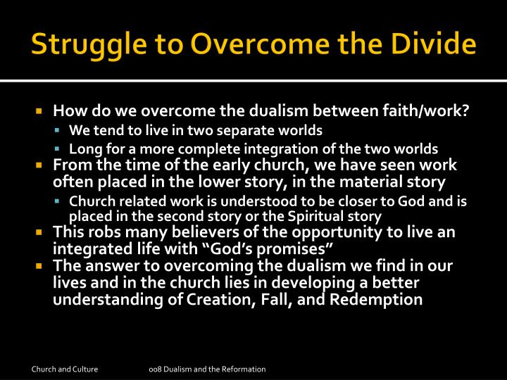 Struggle to Overcome the Divide