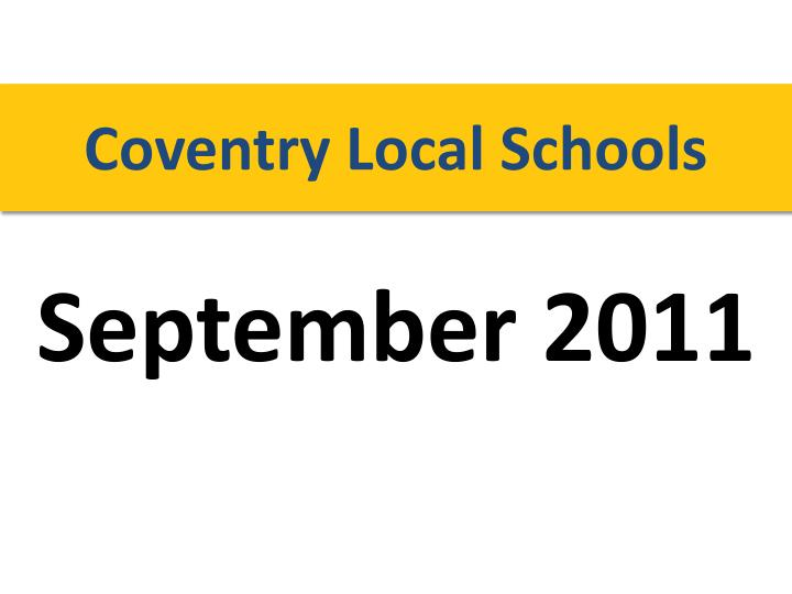Coventry Local Schools