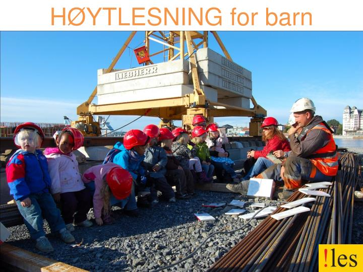 HØYTLESNING for barn