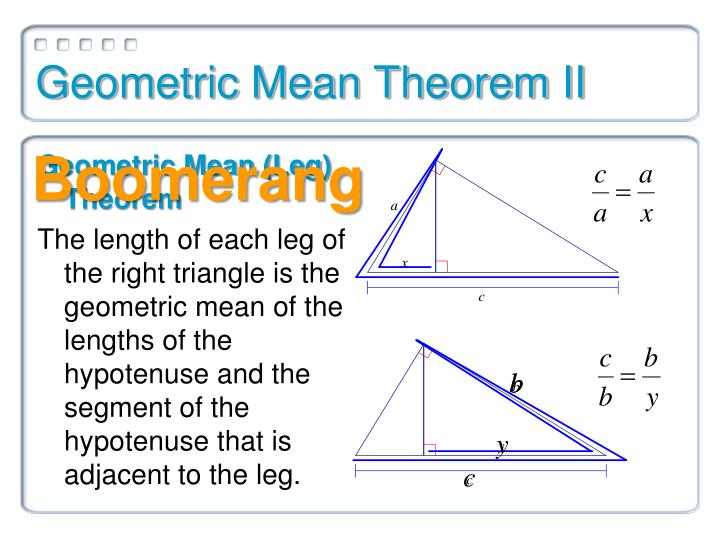 Geometric Mean Theorem II