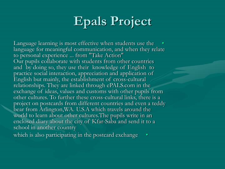 Epals Project