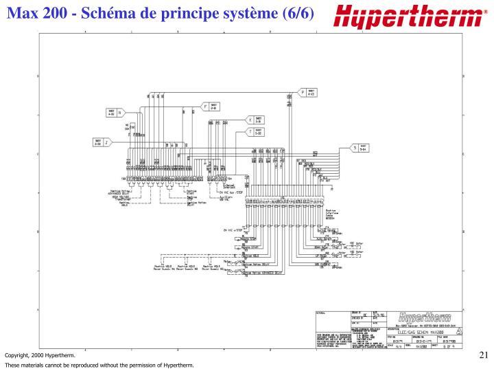 Max 200 - Schéma de principe système (6/6)