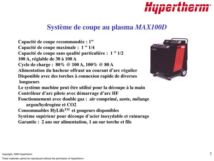 Système de coupe au plasma