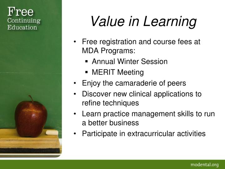 Value in Learning