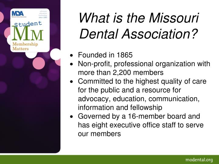 What is the missouri dental association