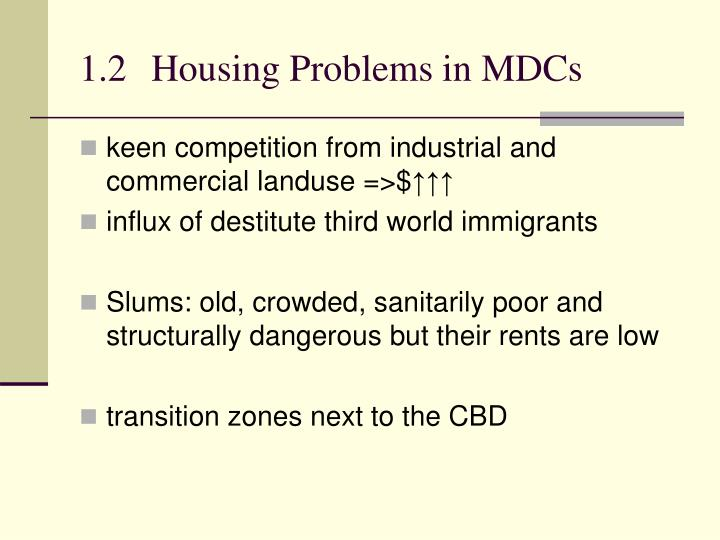 1.2Housing Problems in MDCs