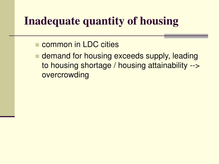 Inadequate quantity of housing