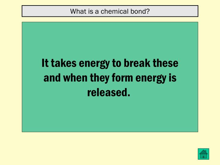 What is a chemical bond?