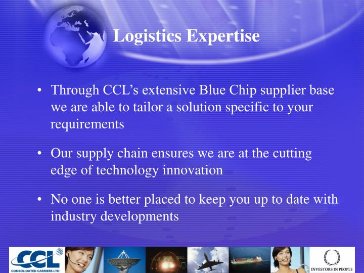 Logistics Expertise