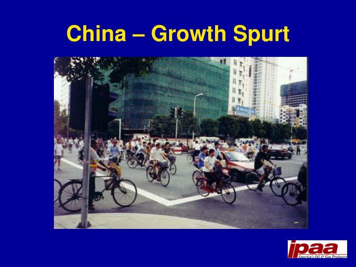 China – Growth Spurt