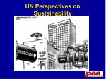 un perspectives on sustainability