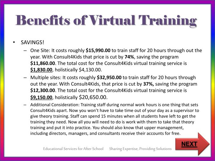 Benefits of Virtual Training