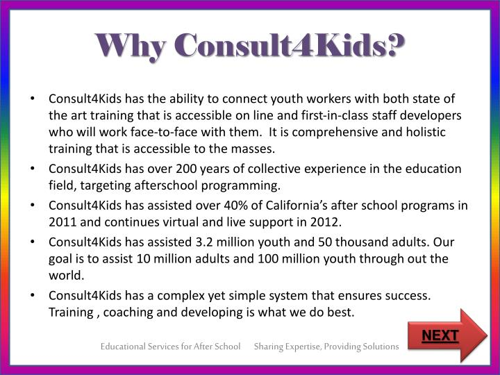 Why Consult4Kids?