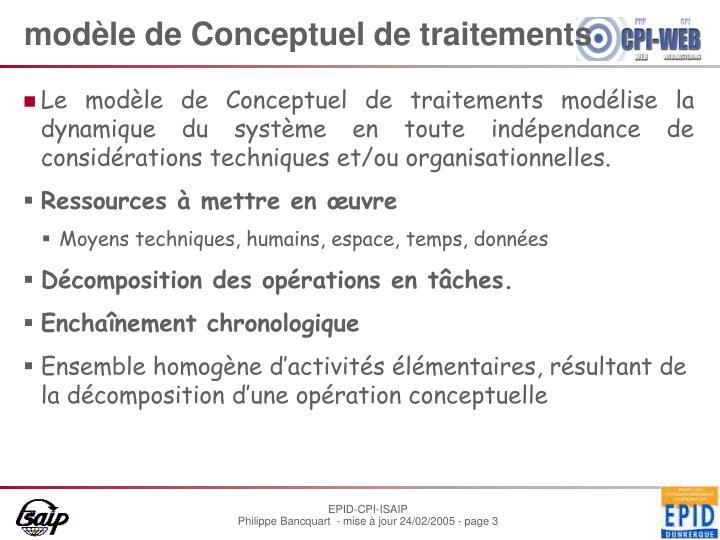 modèle de Conceptuel de traitements