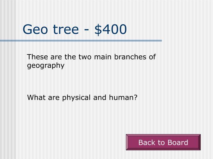 Geo tree - $400