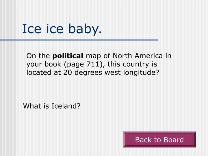 Ice ice baby.