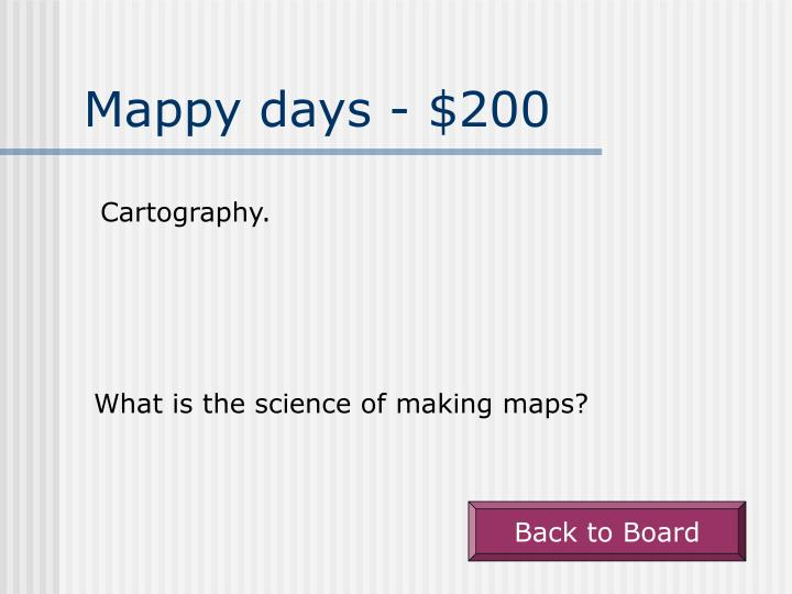 Mappy days 200