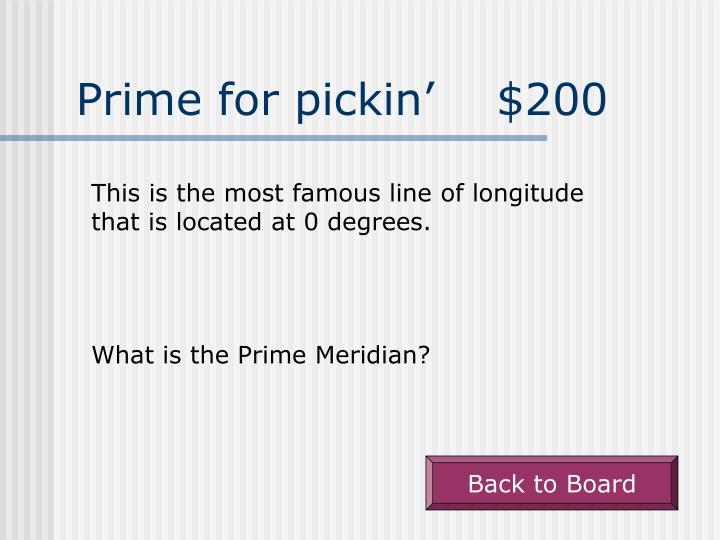 Prime for pickin'    $200
