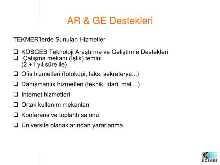 AR & GE Destekleri