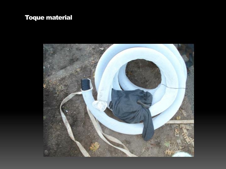 Toque material