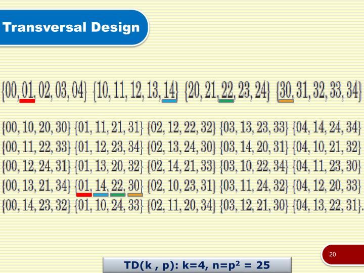 Transversal Design
