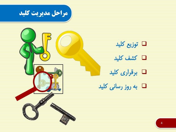مراحل مدیریت کلید