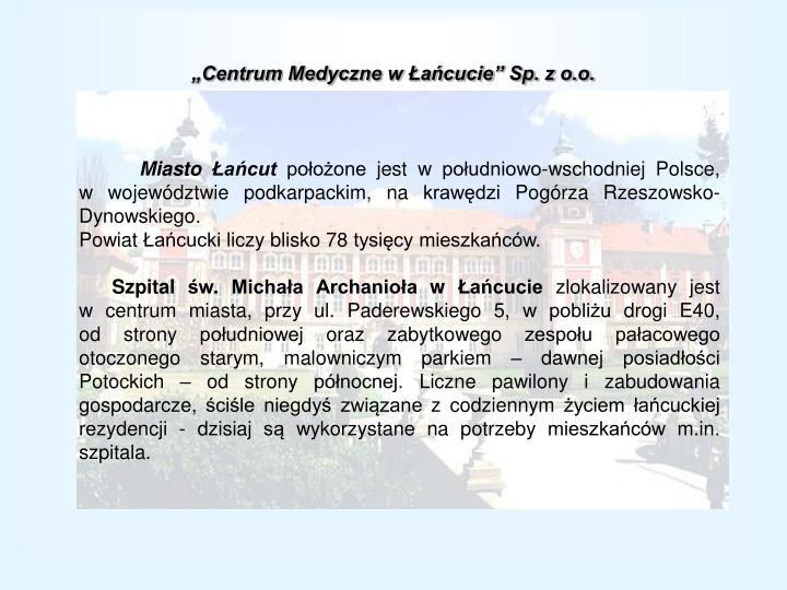 """""""Centrum Medyczne w Łańcucie"""" Sp. z o.o."""