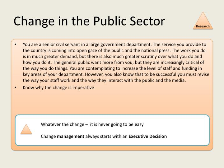 Change in the Public Sector