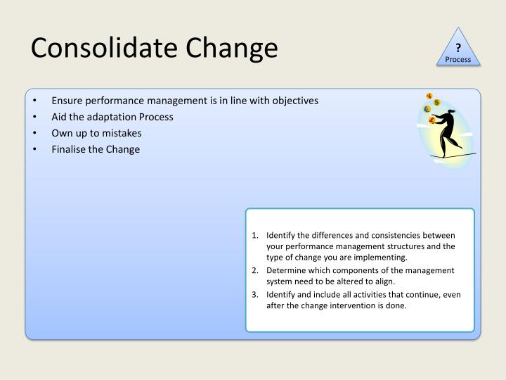 Consolidate Change