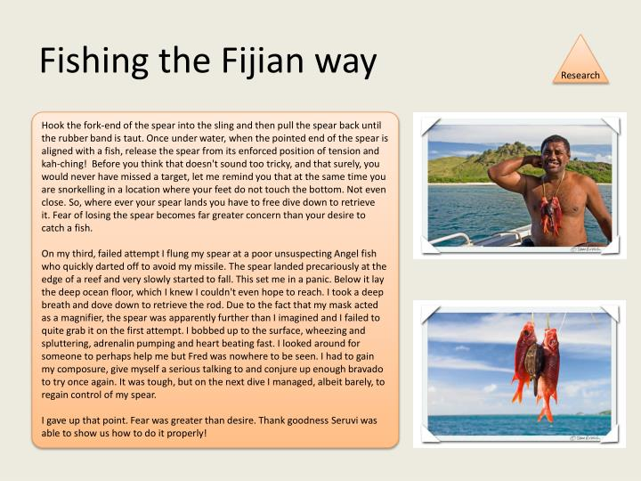 Fishing the Fijian way