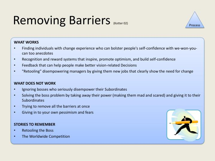 Removing Barriers