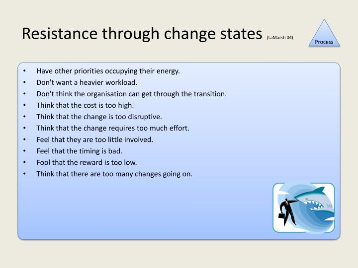 Resistance through change states