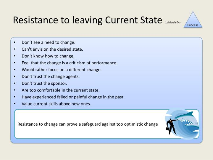 Resistance to leaving Current State