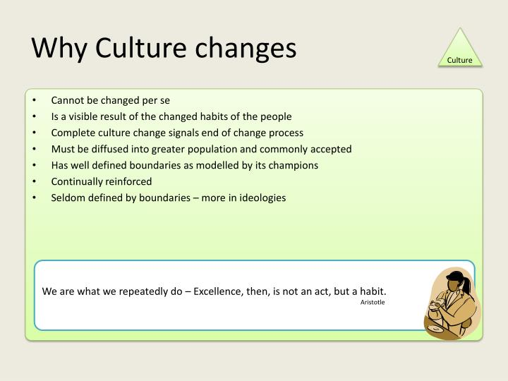 Why Culture changes