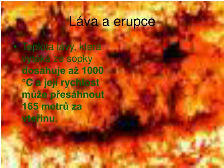Láva a erupce