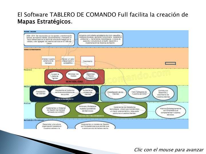 El Software TABLERO DE COMANDO Full facilita la creación de