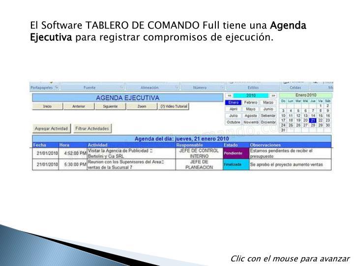 El Software TABLERO DE COMANDO Full tiene una