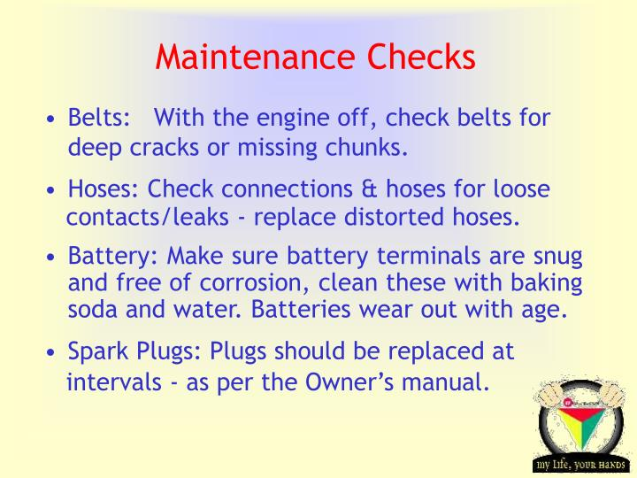 Maintenance Checks