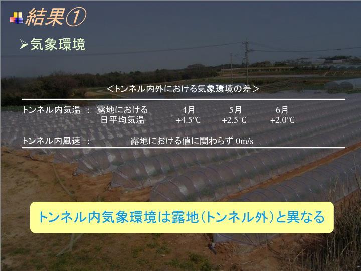 <トンネル内外における気象環境の差>