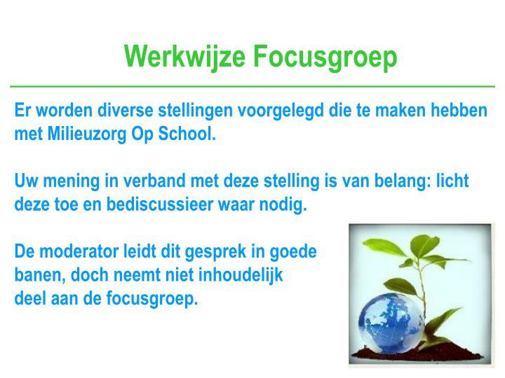 Werkwijze Focusgroep