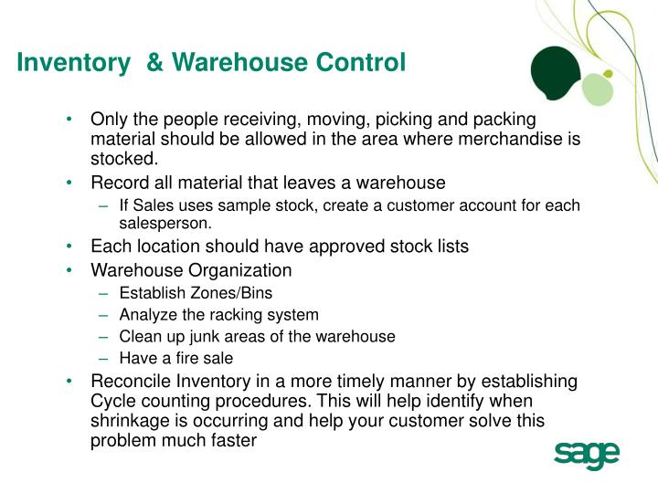 Inventory  & Warehouse Control