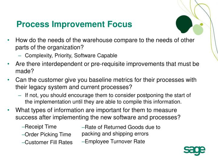Process Improvement Focus